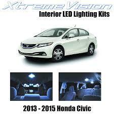 2015 Honda Civic Led Interior Lights Xtremevision Interior Led For Honda Civic 2013 2015 6 Pieces Cool White Interior Led Kit Installation Tool