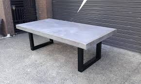 concrete round table and benches outdoor dining furniture sushi com throughout plan60