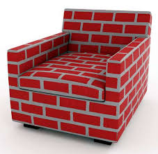Red brick furniture Living Faux Brick Chairs Dreamstimecom Faux Brick Chairs Established Sons Indoor Furniture Looks Like It