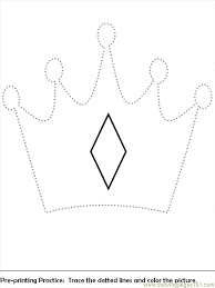 Small Picture Pre Print Crown Coloring Page Free Royal Family Coloring Pages
