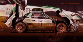 It has always been focused in running at high speeds and not in carrying people, the main reason it only features two seats. Artstation Rally Fiat X1 9 Stratos Style Axesent