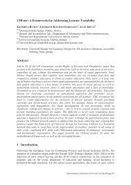 Learner Variability And Universal Design For Learning Pdf Udlnet A Framework For Addressing Learner Variability