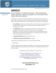 Staff Report Delectable IMF STAFFREPORT GREECE FEB 44