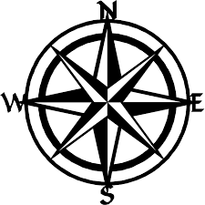 nautical compass wall art graphic library stock