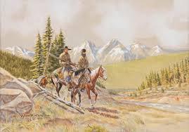 Byron Wolfe, watercolor - March in Montana