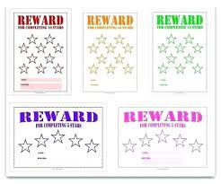 28 Prototypic Childrens Reward Chart Free