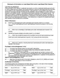 ohio lead based paint disclosure form lead based paint disclosure form florida fillable fill online