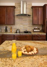 Granite Countertops With Backsplash Mesmerizing Kitchen Remodel In San Diego The Yellow River Granite Countertop