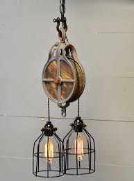 industrial style lighting fixtures. Impressive Pulley Light Fixture 30 Industrial Style Lighting Fixtures To Help You Achieve T