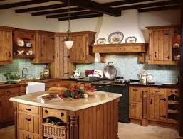Granite With Cream Cabinets Rustic Small Primitive Kitchen Ideas With Hickory Walnut Refacing