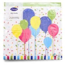 Купить <b>Салфетки Duni Balloons And</b> Confet трехслойные ...