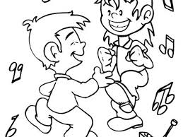 Dance Coloring Pages Hula Dance Is Traditional Dance Coloring Page