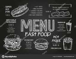 Menu Drawing Design Restaurant Food Menu Design Template With Chalkboard