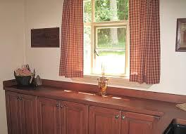 cherry wood countertops with cherry wood backsplash