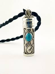 sterling silver turquoise ashes pendant