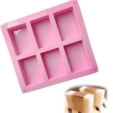 <b>6 Cavity</b> Rectangle <b>silicone soap mold</b> Bar Bake Mold <b>Silicone</b> ...