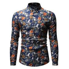 Men's <b>Autumn</b> Fashion Casual 3D Digital Print <b>Long Sleeve Shirt</b> ...