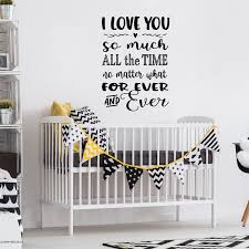 I Love You So Much Quotes Wall Vinyl Decals