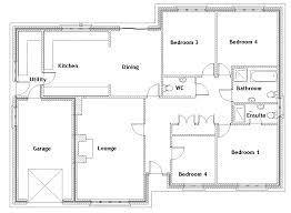 4 bedroom house blueprints 4 bedroom house blueprints best bungalow house plans home designer 4 bedroom