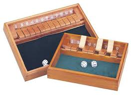 Wooden Box Board Games Amazon Wooden 100 Shut The Box Game Comes with A Pair of Dice 88