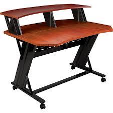 studio trends 46 in studio desk with dual 4u racks cherry