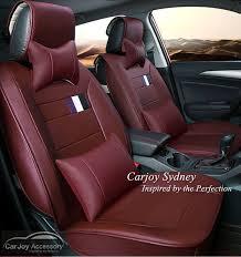 burdy red leather car seat cover honda accord euro jazz civic city crv hrv