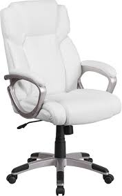 aberdeen mid back white leather executive swivel chair w padded arms jpg