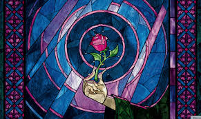 the meaning of the myth behind beauty and the beast is not what  beauty and the beast rose stained glass jpg