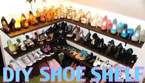 building a shoe closet shoe rack shelf and organization closet shelves photo ideas easy