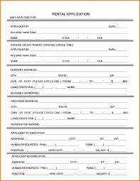 Application Form For Rental Rental Application Form Word Template Business