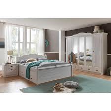 Schlafzimmermöbel Set Vicenza In Weiß Kiefer Massiv Landhaus