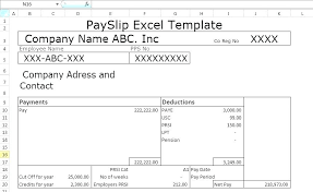 Payment Slip Format In Word Magnificent Pay Slip Template