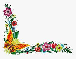 transpa flower corner png png