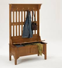 Wood Hall Tree Coat Rack Entryway Bench MissionStyle Entryway Hall Tree And Storage Bench this would be 64