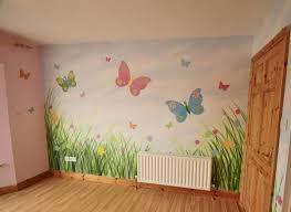 Toddler Girl Bedroom Murals Beautiful Paper Garden Wall Mural Butterfly  Wallpaper Murals Gorgeous