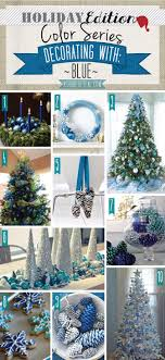 Holiday Color Series; Decorating with Blue. Blue holiday home decor | A  Shade Of