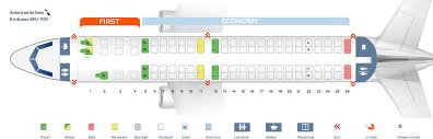 Embraer E90 Seating Chart Seat Map Embraer Erj 190 American Airlines Best Seats In
