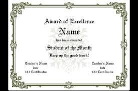 Free Award Certificate Templates For Students Free Printable Award Template Vastuuonminun