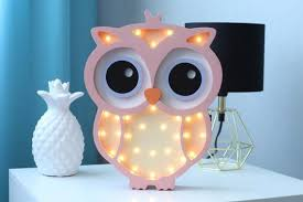 baby night light owl figurine for kids