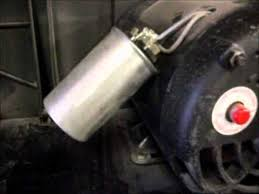 air pressor motor and capacitors