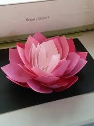 Paper Lotus Flower Imadeit Cricut Giant Lotus Flower Cricut Big Paper
