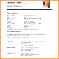 Resume Cv Resume Format Sample Pdf Template Word High