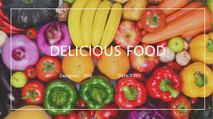 Presentation Foods Wps Template Free Download Writer Presentation