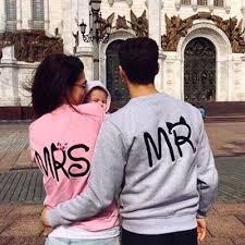 Hpstyle 2016 mrs mr Letter printing fashion lovers fashion sweatshirt ...