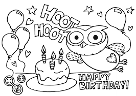 Small Picture Birthday Printable Coloring Pages Happy Birthday Coloring Pages