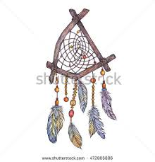 Tree Branch Dream Catcher Watercolor Illustration Dreamcatcher Branches Tree Feathersethnic 75