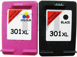 remanufactured 301xl black colour ink cartridge combo fits hp deskjet 2515 aio