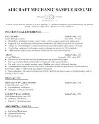 Mechanic Resume Template Amazing Aircraft Maintenance Technician Resume Example Aircraft Technician