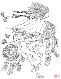 Fantastic Native American Art Coloring Pages With And