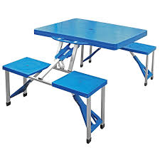 portable picnic table and chairs camping folding set